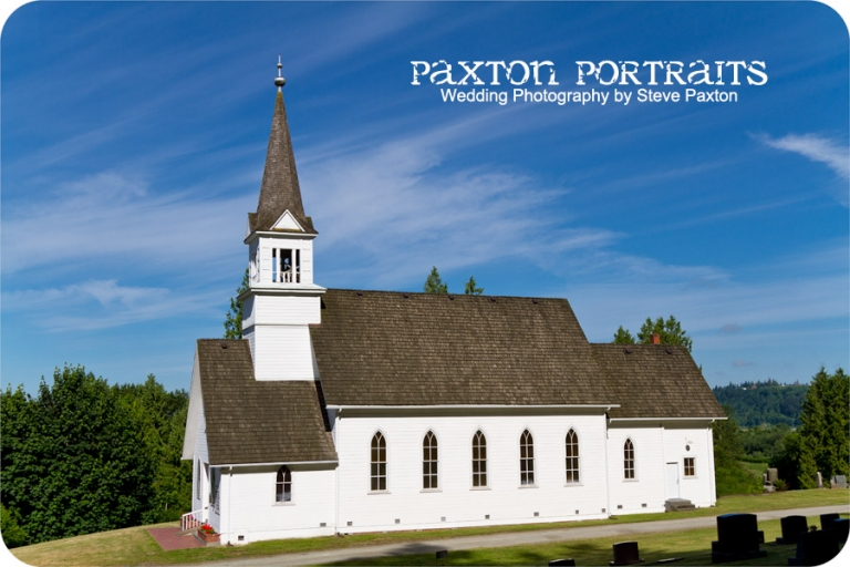 Wedding Photography in Silvana, Washington - The Little Church on the Hill