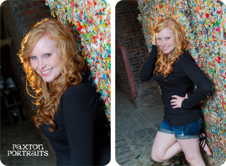 Senior Portraits in Post Alley and the Gum Wall in Seattle