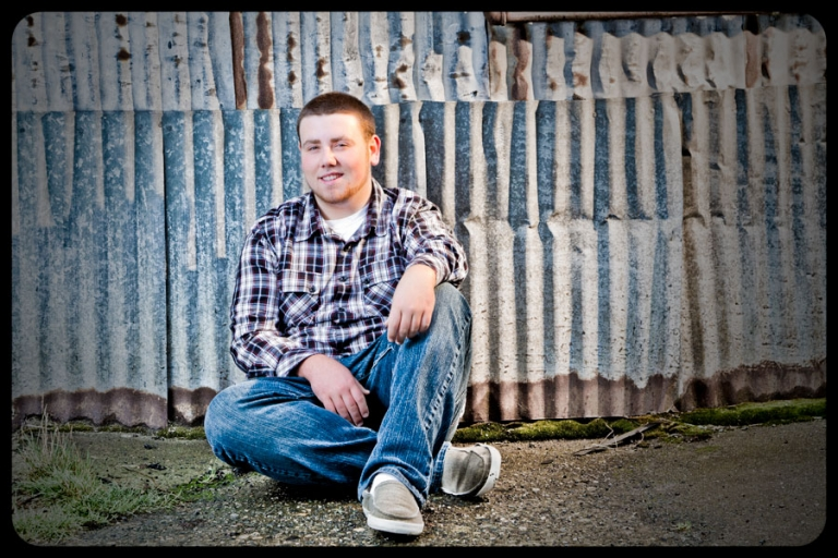 Senior Portraits in an Alley in Everett