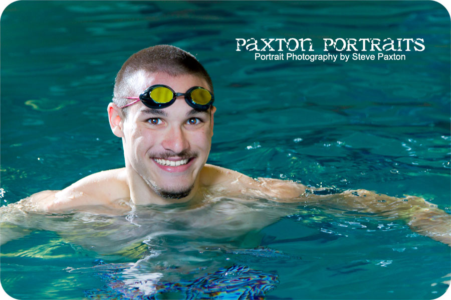 Senior portraits with trent paxton portraits - Evergreen high school swimming pool ...