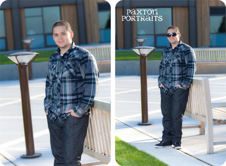 Senior Portraits for Guys at Rose Hill Community Center in Mukilteo