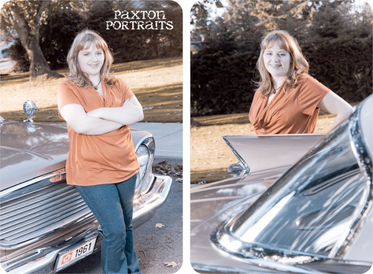 Senior Pictures with a Classic Car in Marysville, Washington