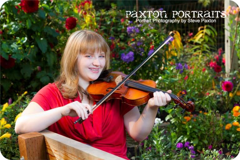 Violin Senior Pictures in Marysville, Washington : Paxton Portraits