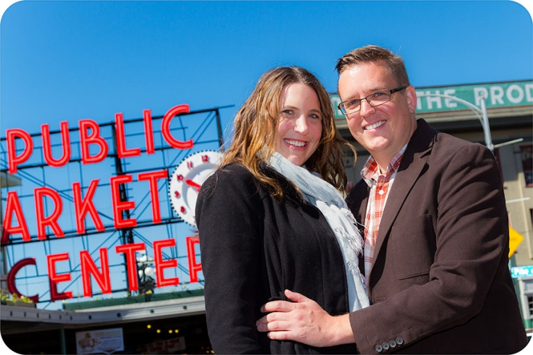 Pike Place Market Engagement Session in Seattle
