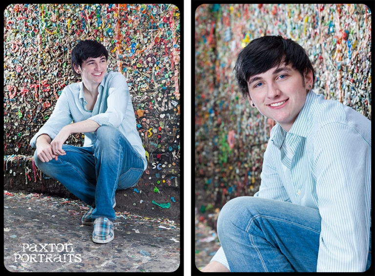 Senior Portraits at the Gum Wall in Seattle, Washington