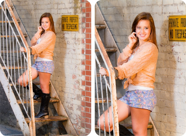 Senior Pictures in an Alley in Everett, WA