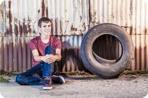 Urban High School Senior Portraits in Everett, Washington