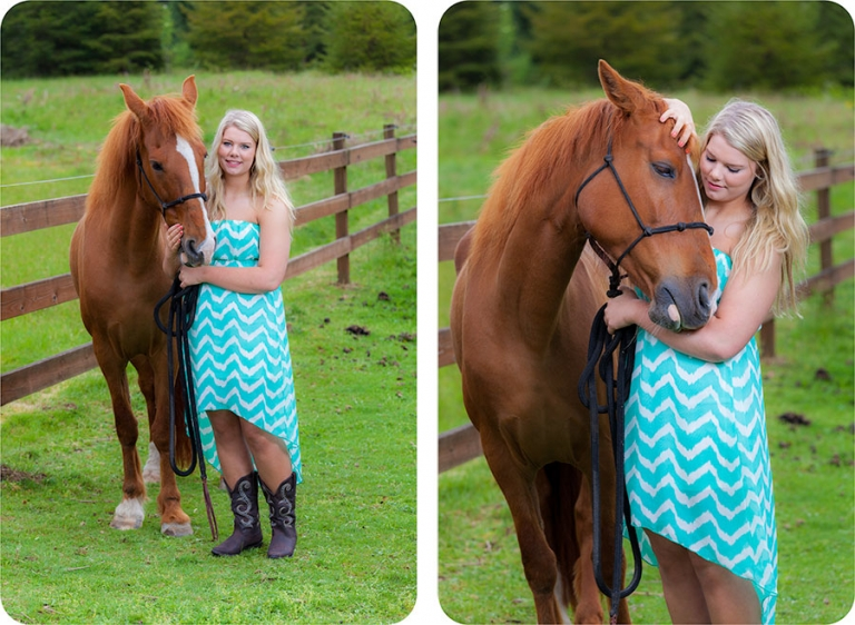 High School Senior Pictures with a Horse