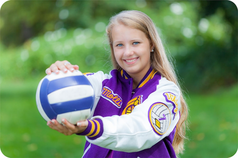 Marysville Senior Portraits with a Volleyball