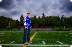 Football Senior Portraits in Bothell, Washington
