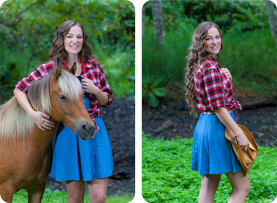 Senior Pictures with a Pony in Arlington, Washington