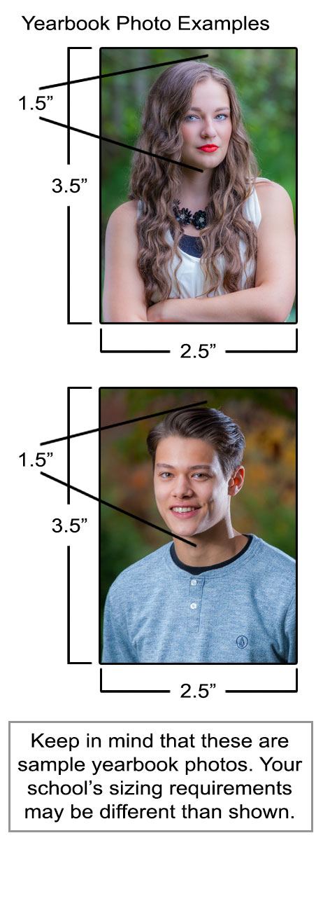 Example Yearbook Photo Sizing Requirements